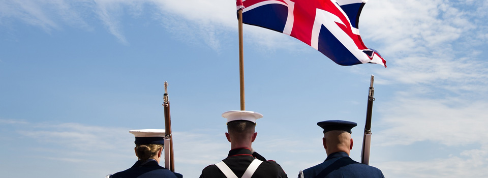 Union Flag with Military