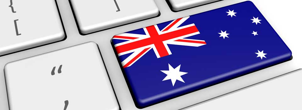 Australian Flag on Keyboard