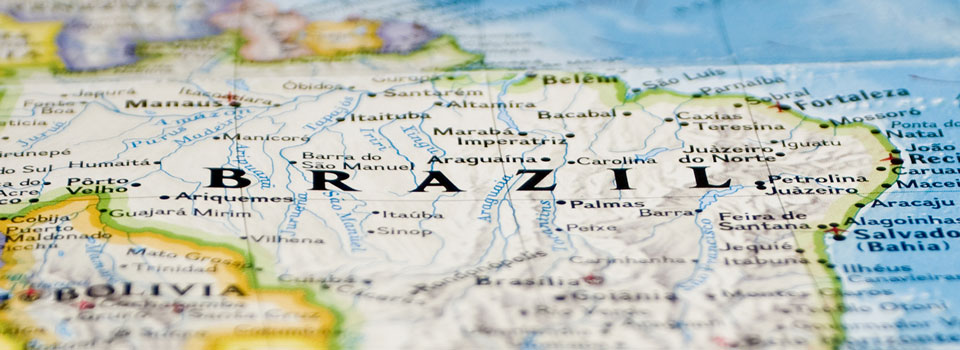 Brazil on Map