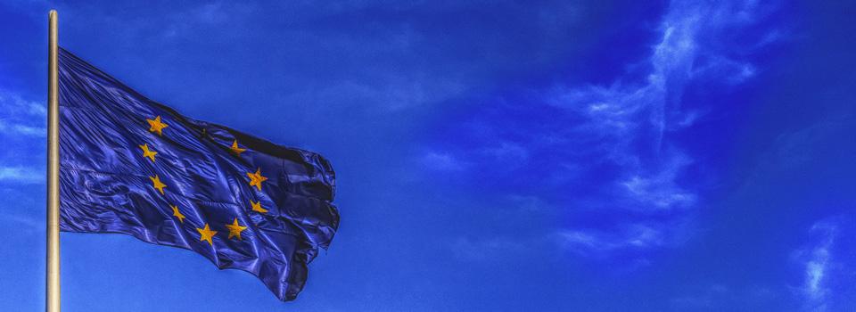 Eu Flag at Twilight
