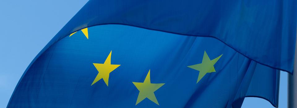 EU flag in the wind
