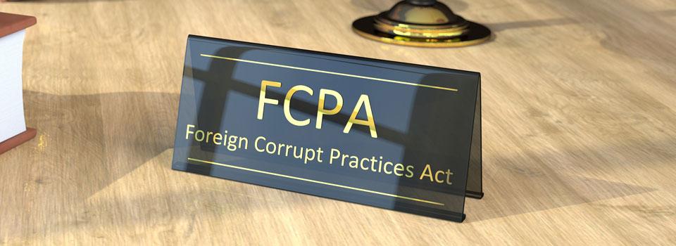 FCPA Desk Sign