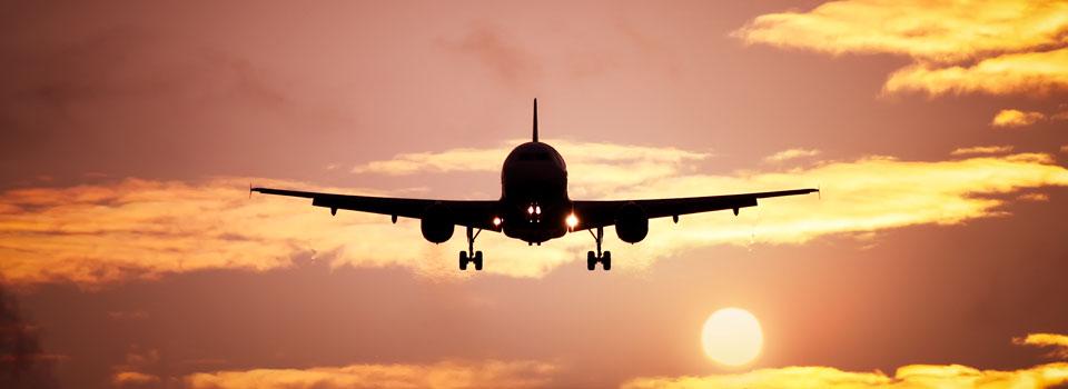 Plane against sky