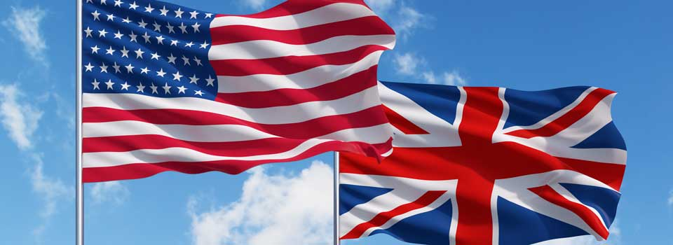 UK US Flags
