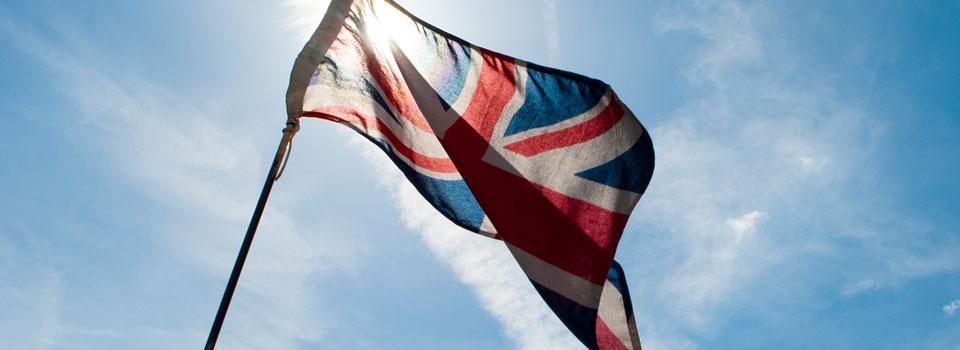 Union Flag in Sun