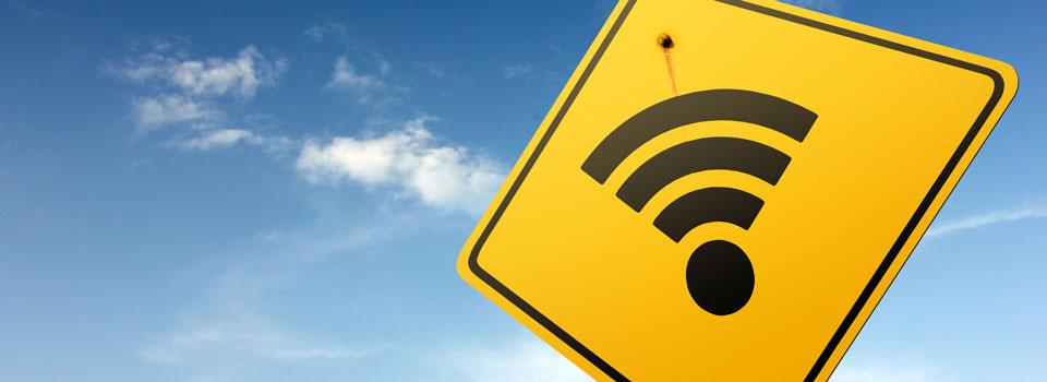 Yellow Wifi Sign
