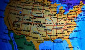 USA Map Polaroid