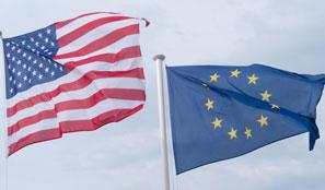 US EU Flags Trade